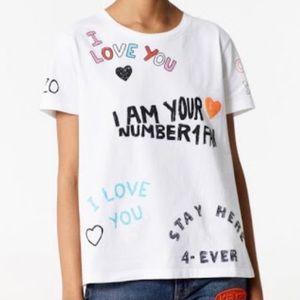 Kenzo Graphic I Love You Tshirt